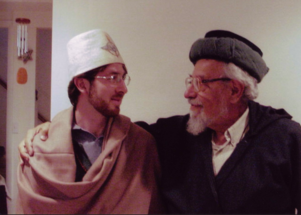 Netanel with his teacher and mentor Reb Zalman Schachter-Shalomi